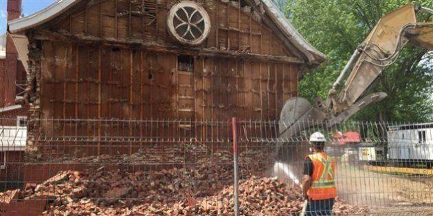 Démolition de l'église de Pierreville : un «choix déchirant» mais nécessaire selon le