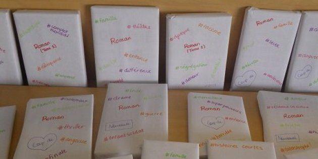 Les collégiens ont adoré l'initiative de cette professeure-documentaliste, qui empaqueté chaque livre,...