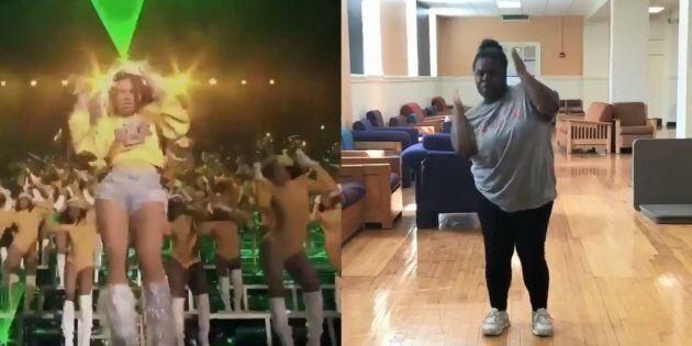 Cette adolescente a appris et reproduit la chorégraphie de Beyoncé à Coachella en un temps