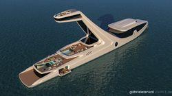Un yacht avec une tour pour avoir une belle vue dans sa piscine