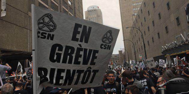 Des syndicats des employés de la STM ont manifesté à Montréal,