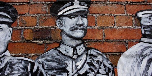 Une oeuvre de rue pour souligner les émeutes de la conscription de 1918 disparaît