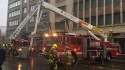 Un incendie s'est déclaré dans l'édifice de l'Hôtel Royal William à