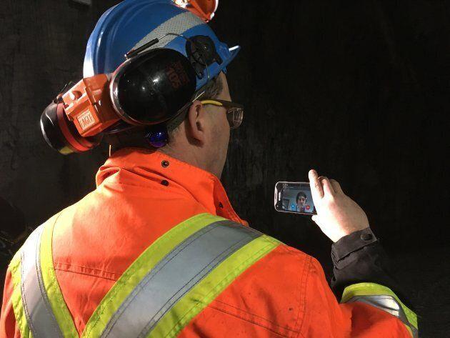 Sylvain Bernier, technicien en technologies d'opération à la mine Laronde d'Agnico-Eagle.
