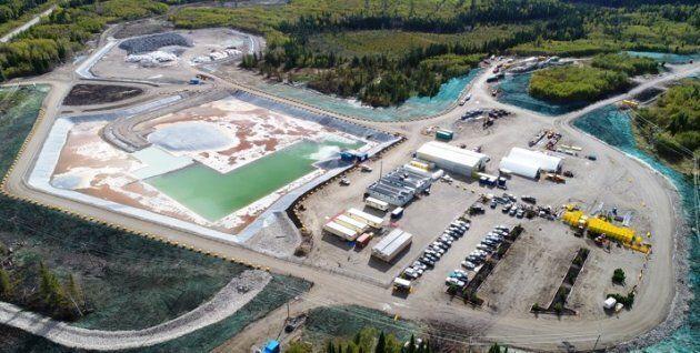 Vue aérienne de la mine Borden