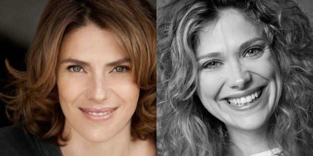 Les comédiennes Hélène et Catherine Florent en deuil de leur
