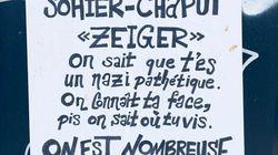 Des affiches menaçant un présumé néonazi à