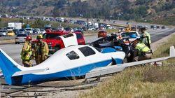 Un avion s'écrase sur une autoroute en Californie