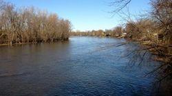 La crue des rivières sous