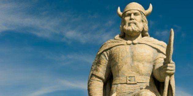 Viking statue, Gimli, Manitoba,