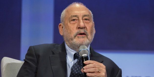 Economist Joseph Stiglitz takes part in a panel during the Clinton Global Initiative's annual meeting...