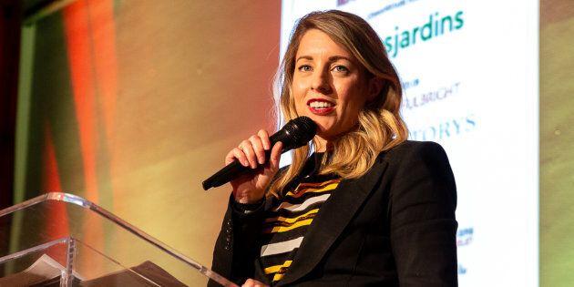 Mélanie Joly, ministre du Patrimoine canadien.