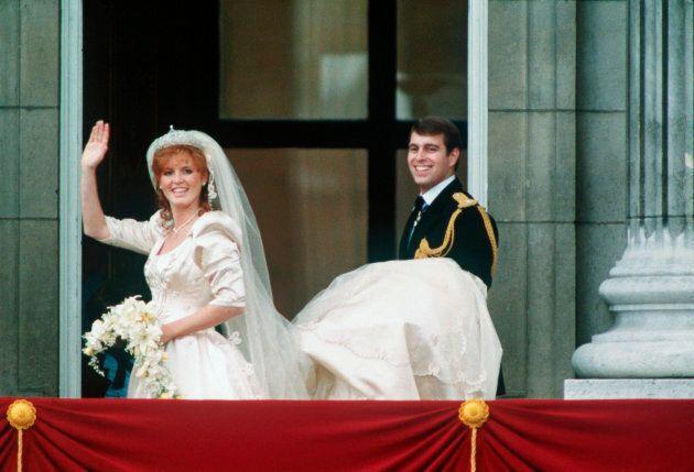 The Duke and Duchess of York on their wedding