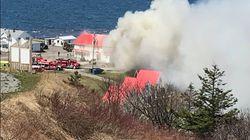 L'auberge la Maison Lebreux à Petite-Vallée, en Gaspésie, ravagée par un