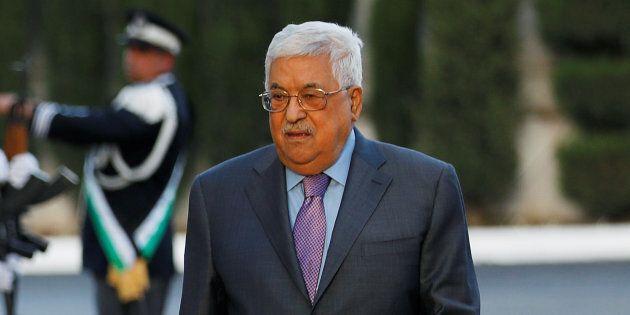 Le président palestinien, Mahmoud