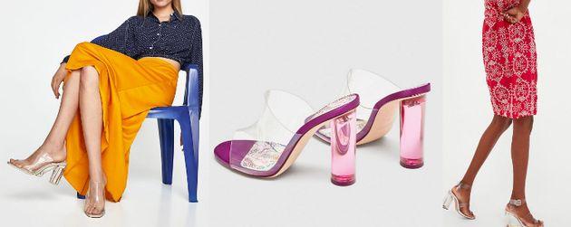 La tendance des chaussures en plastique transparent ou l'enfer du pied qui
