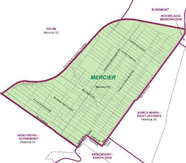 Carte de la circonscription de