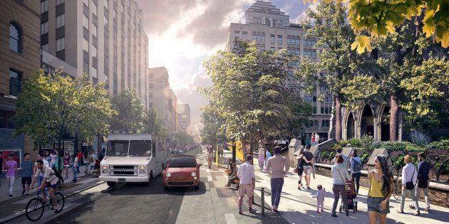Montréal: le réaménagement de la rue Sainte-Catherine reporté de six