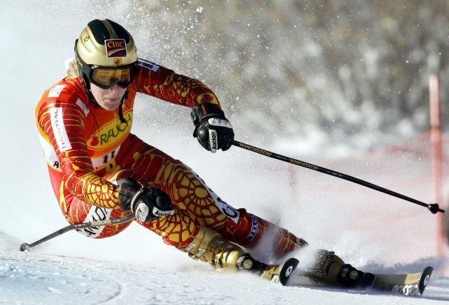 Photo d'archives d'Allison Forsyth lors d'une épreuve à Aspen, au Colorado, en décembre