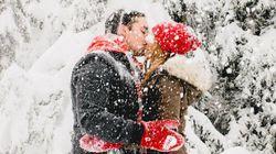 23 photos de fiançailles sous la neige qui vous réchaufferont le
