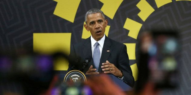 U.S. President Barack Obama holds a press conference at the conclusion of the APEC (Asia-Pacific Economic...