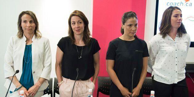 Amélie-Frédérique Gagnon, Gail Kelly, Anna Prchal et Geneviève