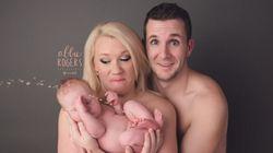 Ce bébé a bien ruiné leur photo de famille