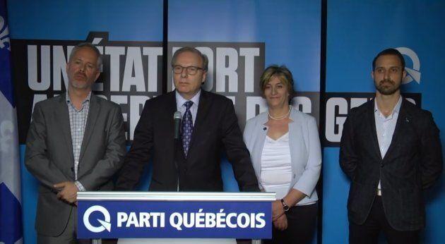 Frédéric Lapointe, Jean-François Lisée, Farida Sam et Cédric