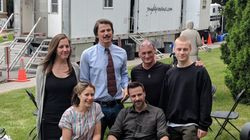 Sur le plateau de «Gut Instinct», avec Josh Hartnett et Antoine Olivier
