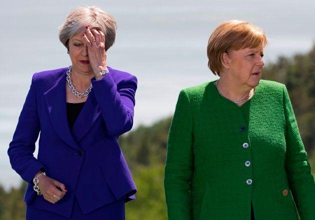 La première ministre britannique Theresa May et la chancelière allemande Angela