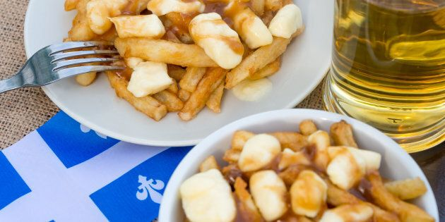 Classic Quebec poutine with french fries, gravy, and cheese