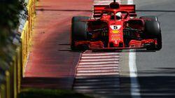 Vettel obtient la position de tête au Grand Prix du