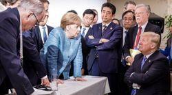 G7: les internautes s'amusent avec la photo de Merkel devenue