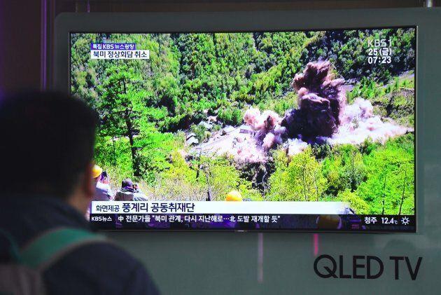La Corée du Nord affirme avoir détruit son unique site d'essais nucléaires, le 24