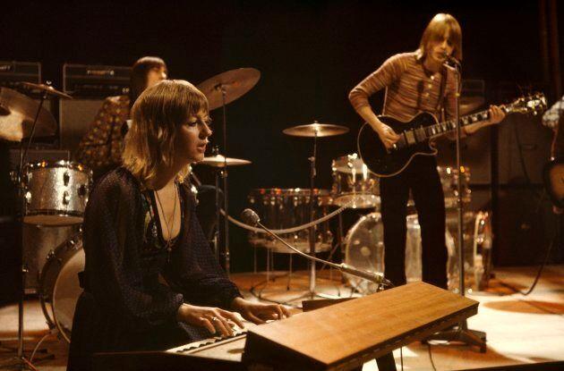 De gauche à droite, Mick Fleetwood, Christine McVie et Danny Kirwan lors d'une apparition à l'émission...