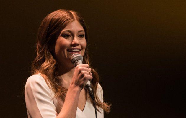 Katherine Levac lors de la première montréalaise de son spectacle Velours.