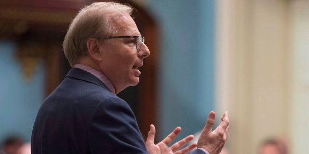 Le chef du Parti québécois, Jean-François Lisée, en période de