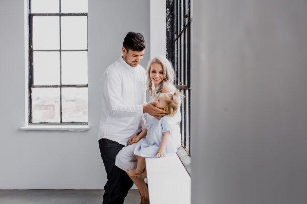 Carey Price, sa femme Angela et leur fille Liv.