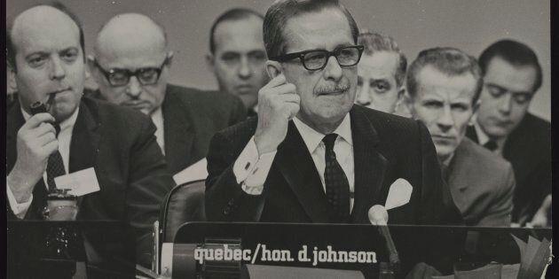 Le politicien Daniel Johnson père,
