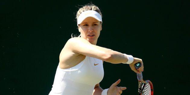 Eugenie Bouchard s'approche du tableau principal à Wimbledon... et est plus bavarde en