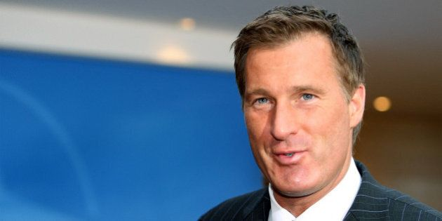 Canada's Foreign Minister Maxime Bernier arrives for a NATO foreign ministers meeting in Brussels, Thursday...