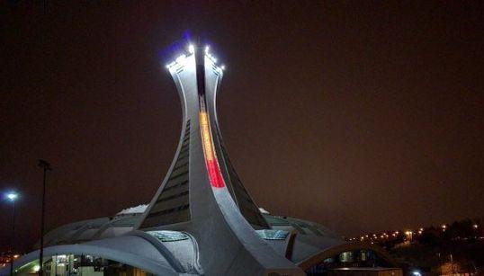 La photo du jour : le Stade olympique s'illumine pour