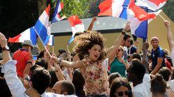 Coupe du monde: Revivez la joie des fans des Bleus après les quatre buts de l'équipe de