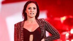 Demi Lovato blessée au
