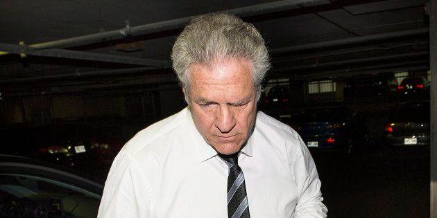 Tony Accurso à son arrivée au palais de justice,