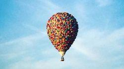 La montgolfière de «Là-haut» en balade en