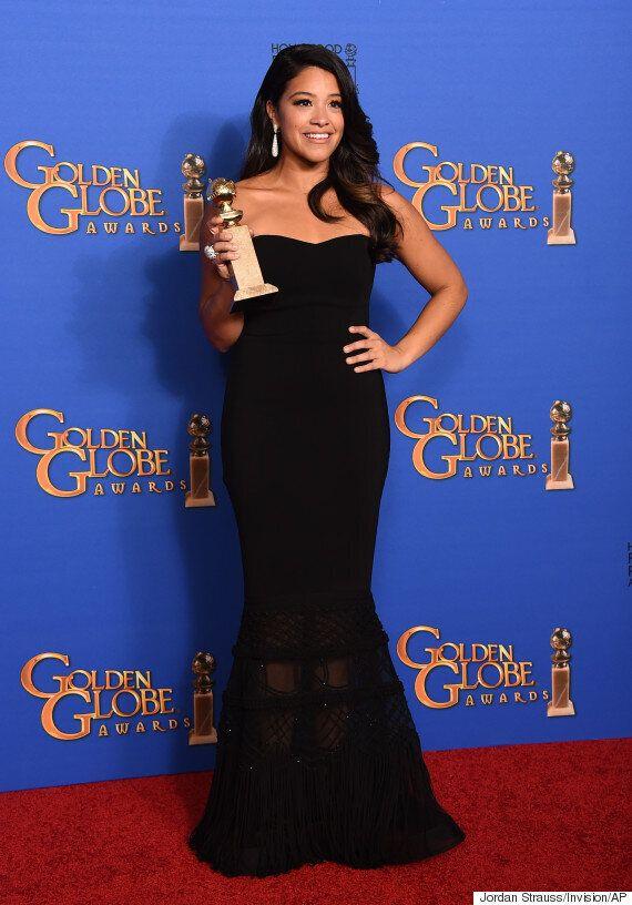 Gina Rodriguez comble une fan en lui offrant sa robe des Golden