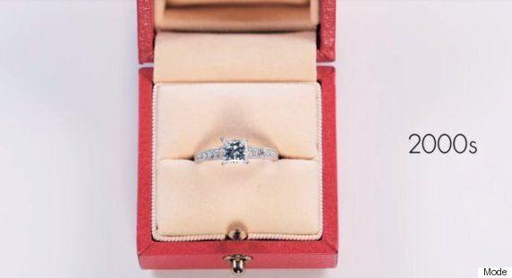 Voyez 100 ans de bagues de fiançailles en moins de trois minutes