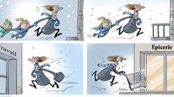Ce dessin représente le quotidien des mamans