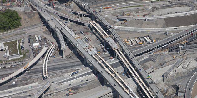 Turcot: l'autoroute 15 Nord amputée d'une voie jusqu'à
